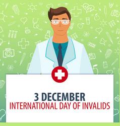 3 desember international day of invalids medical vector