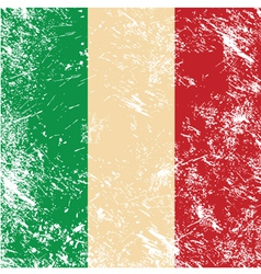 Italy retro flag vector image