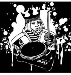 king Dj graffiti vector image vector image