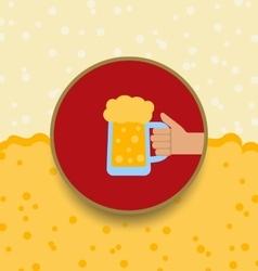 Oktoberfest background with mug of beer vector
