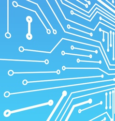 Perspective background of blue computer board vector image vector image
