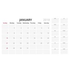 simple planner calendar vector image vector image
