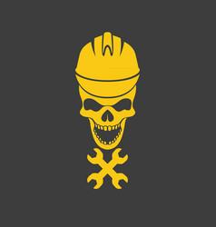 skull logo icon design vector image