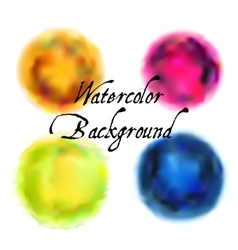 Watercolor backgrounds set vector image