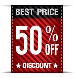 Best Price Banner and Discount on white background vector image vector image