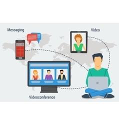 Concept of internet communication vector