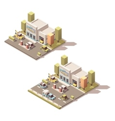 isometric car Service vector image vector image