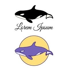 Killer whale emblems vector
