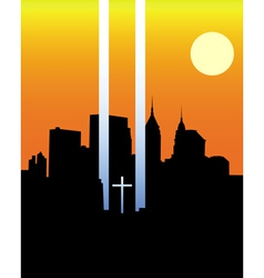 memorial twin towers vector image vector image