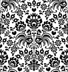Seamless floral Polish folk pattern - Wycinanki vector image vector image