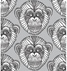 Seamless pattern with hand drawn ornate zentagle vector image