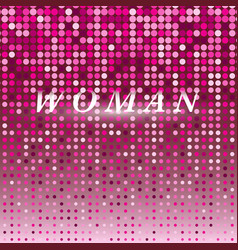 woman on pink dot halftone abstract background vector image vector image