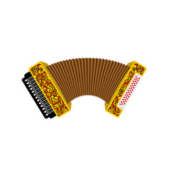 accordion isolated russian national folk musical vector image vector image