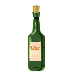 bottle of wine icon cartoon style vector image