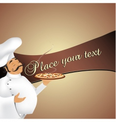 chef background vector image