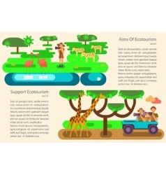 Eco tourism concept vector image