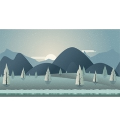Mountain seamless background for vector image vector image