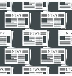 Newspaper background vector image