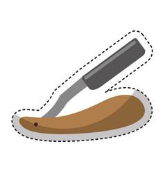 razor blade isolated icon vector image