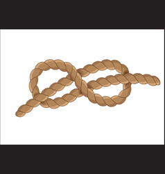 sailor rope knot symbol vector image vector image