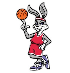 sporty look basketball rabbit vector image