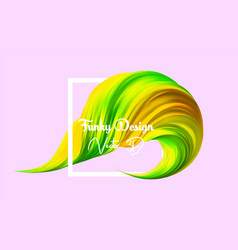 3d yelloow realistic brush stroke abstract vector image