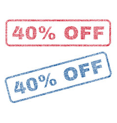 40 percent off textile stamps vector image