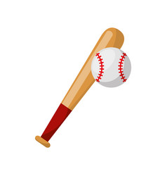 Baseball bat isolated icon vector