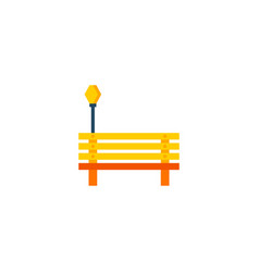 bench icon flat element of vector image