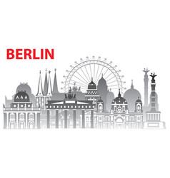 Berlin city gradient 1 vector