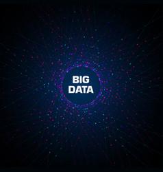 big data visualization circular cluster vector image