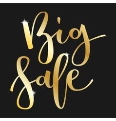 Big sale hand written inscription vector