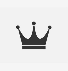 black crown icon on gray background in flat design vector image