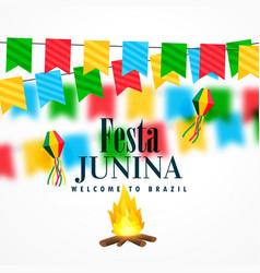 Brazil june festival of festa junina celebration vector