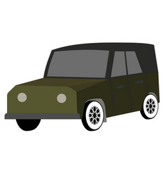Car for travel hunting safari flat vector