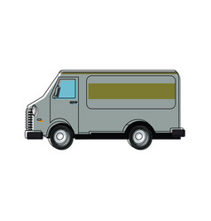 Car van commercial vehicle delivery service vector