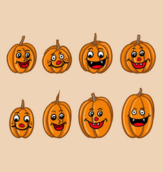 cartoony halloween pumpkin for kid vector image