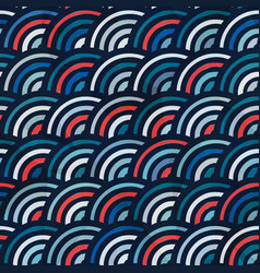 circle vintage seamless pattern vector image