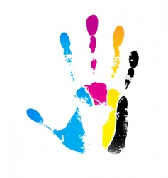 CMYK handprint vector image