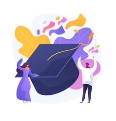 college graduation concept metaphor vector image