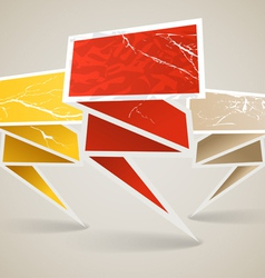 Colorful polygonal vintage origami banners vector image