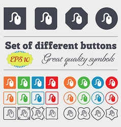 Computer mouse icon sign Big set of colorful vector image