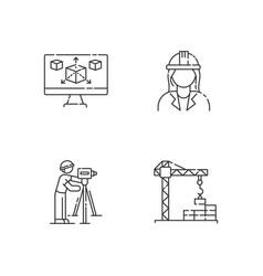 construction building process pixel perfect vector image