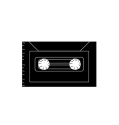 Contour cassette to listen and play music vector