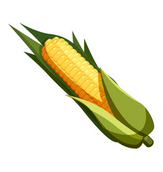 Corn icon cartoon style vector