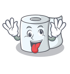 crazy tissue character cartoon style vector image