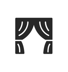 curtains icon vector image