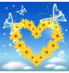 Daisy heart vector image