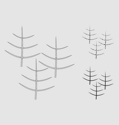 dead forest mesh carcass model and triangle vector image