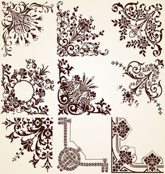 Decorative Ornamental Corners vector image